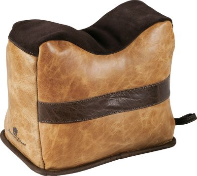 Crafted of vegetable-tanned, top-grain bison leather, these supple-to-the touch, yet highly durable bags feature double-stitched seams for years of leak-free stability. Waterproof, anti-skid bottoms. Includes an EZ Pour spout for hassle-free filling. Made in USA. Available: Front Bag, Rear Bag. - $74.99