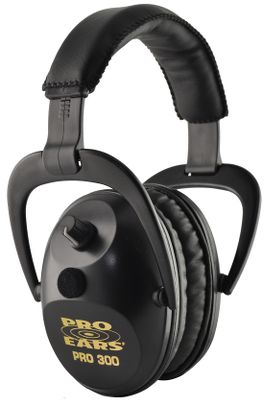 Hunting Enjoy superb sound amplification and hearing protection in a versatile system that offers outstanding comfort and performance for both hunters and shooters. Pro Ears Pro 300 Muffs come preset with 15db of amplification for operation in continuously noisy environments, while simultaneously providing an NRR of 26db. Noise protection activates in just 5.5 milliseconds with DLSC compression technology. Wind-abatement programming reduces ambient noise on breezy days. The circuit boards reduce high-frequency filtering that can help those with hearing loss in the higher frequency ranges, and theres one in each muff with independent on/off and volume controls. Constructed of supple ProForm leather and visco-elastic foam for long-lasting comfort. Made in USA. Wt: 9.1 oz. Color/camo pattern: Black, Green, Neon Green (not shown), Pink (not shown), Pink Camo (not shown), Pink Zebra, Skulls, Realtree APG, Realtree AP Snow, Realtree MAX-4 (not shown). Color: Black. Gender: Male. Age Group: Adult. Pattern: Zebra. Material: Leather. Type: Electronic Earmuffs. - $199.99