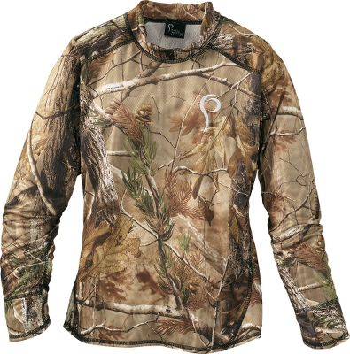 Hunting Pris hunting garments for women combine technical hunting components, functional fabrics and an athletic composition with patterns cut for the female form. The long-sleeve tees are made of moisture-wicking polyester. Pris Ultra Fitted Pants are polyester with a brushed tricot lining. Made in USA.Sizes: XS-XL.Camo patterns: Realtree AP, Realtree MAX-1. Type: Long-Sleeve Shirts. Size: Medium. Camo Pattern: MAX-1. Size Medium. Color Max-1. - $29.88
