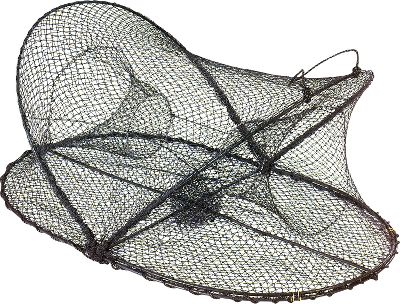 Fishing With its convenient design, the Collapsible Crab Trap allows you to carry more traps and save storage space. Folds down to just 2 for easy transport and storage and quickly pops open for easy setup. Dual 6 entrances. Includes wire clamps and easy carry handle. Available: Large (32L x 20W x 12H) Includes a drawstring bait bag X-Large (36L x 24W x 20H) Includes a drawstring bait bag XX-Large (37L x 25W x 24H Includes a bait holder pin The double layer bait-holding pocket in the Lobster/Crab Hoop Net makes it easy to bait up and retain bait in the net. Heavy-duty 20 deep polyethylene netting secures your catch. Two floats and 100 ft. rope included only with Hoop Nets. Available: Deluxe (32wide) Jumbo (36 wide) Gender: Male. Age Group: Adult. - $19.99