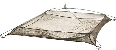 Fishing For easy operation, the spring-loaded frame pops open when its ready to use. For storage or transport, it folds completely flat in one easy step. Unique hemmed edges ensure your catch will still stay securely in the net. Includes a 20-ft. rope. Available: 36 x 36 42 x 42 Type: Casting Nets. - $16.99
