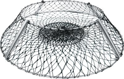 Fishing Professional-grade durability and reliability in the field for results you can bank on. Available: The collapsible Eclipse Hoop Net features three concentric rings and an innovative design. It has a 20top ring, 10 ring at the center and a 36 ring at the base. It is extremely effective at preventing the escape of your catch thanks to the patented Promar Bait pouch in the center. This reverse hoop net stands on four solid-steel rods that easily detach to collapse the hoop rings for convenient storage. Gender: Male. Age Group: Adult. Type: Crab Trap Accessories. - $30.88