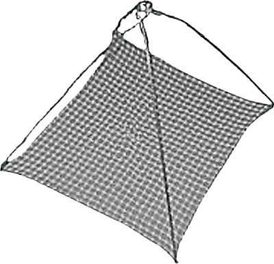 Fishing Strong nylon netting secures your catch. Imported. Net dimensions: 19 x 19. Available: Single, 12-Pack. - $2.99