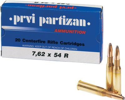 Hunting Enjoy your Mosin Nagant rifle even more with this tremendous value on 7.62x54R ammo. Loaded to exacting tolerances with reloadable brass cases and noncorrosive boxer primers, its 150-grain soft-point bullets are ideal for both hunting and practice. Type: Centerfire Rifle Ammunition. - $89.99