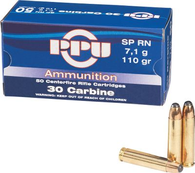 Hunting Take advantage of these bulk-ammo prices and have even more fun with your sweet-shooting .30-caliber M1 Carbine. Reloadable brass cases and noncorrosive boxer primers. 110-grain multipurpose soft-point bullets. - $99.99