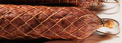 Classic old-world look with deeply impressed netting. Traditionally used for summer sausage, pepperoni, salami, ham and cooked lunch meats. Each casing stuffs approximately 1 lb. Per 10. Available: Honeycomb (not shown), Nets. Type: Casings. - $44.99
