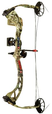 "Hunting Engineered for maximum adjustability. Revolutionary Opti-Cam offers 12 of draw-length adjustment and increases draw weight through a simple cam adjustment. New limb-pocket design. Limb bolts have a full 10-turn range. Right or left hand. Made in USA.Camo pattern: Mossy Oak Break-Up Infinity. Rally RTS package includes: bow, Gemini sight, QS Whisker Biscuit rest, Mongoose quiver, peep sight and nock set. Let-Off: 70%. Brace Height: 7 1/2"". Type: Youth Compounds. Hand: Right. Draw Weight (lbs.): 35-60. Draw Length (in.): 18-31. Bow Weight (lbs.): 4.5. IBO Speed (fps): 301-325. Axle To Axle: 33 3/4"". Rh 18""-31"" 18-60 Lbs. - $249.88"
