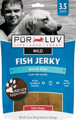 Hunting Made with real fish, these treats are a sure bet with your pet. There great-tasting, healthy low-fat treats are sure to be a hit with your pet.Size: 3.5-oz. - $2.88