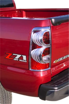 Motorsports Dramatically enhance the look of your vehicle with these chrome trim taillight covers. They're made of long-lasting automotive-grade ABS chrome that will withstand the elements and matches OEM chrome perfectly. Easy peel-and-stick installation using 3M tape, no cutting or drilling required. Suburban/Tahoe/Yukon, Ram 1500, Ram 2500/3500, Expedition not shown. - $14.88