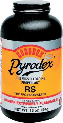 Hunting Pyrodex RS can be used in all calibers of percussion muzzleloading rifles and shotguns. It has a wide application of uses and is the most versatile powder in the Pyrodex line. Like all grades of Pyrodex, it burns cleaner and produces less fouling than black powder. RS compares to 2F black powder on a particle size basis. Select is considered by many the most accurate powder available. Select is an enhancement of our RS grade of Pyrodex. Using RS or 2F data in a volumetric measure, Select can significantly reduce group size. Wonderful news to the deer hunter is that Select performs well with sabots and conical bullets. Select has also become a favorite among many black powder cartridge shooters because of its exceptional consistency. For target use it is the best of the best. The principle use for Pyrodex P is in all pistols and in smaller bore rifles, .45 caliber and down. P is also useful as a priming charge in guns which have a tortuous or fouled ignition channel or other ignition problems. Pyrodex P compares to 3F black powder on a particle size basis. Shipped regular UPS ground only. Four 1-lb. cans. Available: RS (Rifle Shotgun), RS (Select) and P (Pistol). Color: Black. - $72.99
