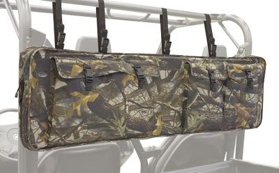 Hunting A convenient place to store up to two rifles or shotguns plus extra shells, ammo and other gear where it will stay protected, out of the way and always within quick reach. Case attaches securely to the back of UTV roll cages using heavy-duty straps and quick-release buckles. One rifle or shotgun slides into each side of the case. Extra-thick padding protects rifles from hitting against each other or the roll cage. On the outside of the case are three large gear pockets to store gear. Bottom D-rings provide additional lash points. Heavy-duty UV-resistant ProtekX Extreme fabric and weather-resistant zippers ensure extreme weather and abrasion protection. Two-year warranty. Camo pattern: Realtree Hardwoods HD Grey. Color: Grey. Type: Soft Gun Storage. - $99.99