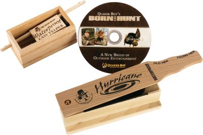 Hunting The waterproof Easy Yelper teamed with the waterproof Hurricane makes this all-weather call set a must-have for all turkey hunters. Both are treated with a synthetic material that completely waterproofs the calls without affecting sound quality. Includes the Born to Hunt Volume 2 DVD. Gender: Male. Age Group: Kids. - $29.99