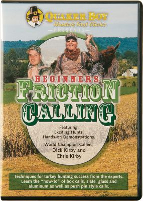 Hunting Friction calling takes practice but produces great results when mastered. You'll learn to master box, slate, glass, aluminum and push-pin calls from world-champion callers Dick and Chris Kirby on this DVD. 43 minutes. - $9.99