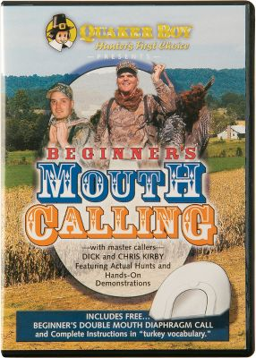 Hunting Champion callers Chris and Dick Kirby take you step-by-step through the different sounds in a turkey's vocabulary. A beginner's Double-Reed mouth call is included. DVD. 35 minutes. - $9.99