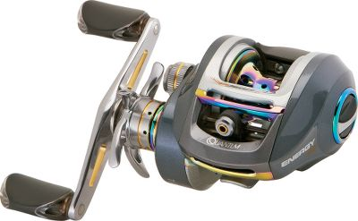 Fishing New Infinite ACS3 Casting ControlThis newest PT feature from Quantum will greatly improve your casting ability. It offers dial-in casting capability without any need to readjust the dial. This system senses not to engage the brake assembly during flipping or pitching presentation, but automatically engages during long casts to control lure flight and minimize backlash. When a long cast is made, the brake assembly engages at maximum spool RPM using adjustment springs. As the bait slows, the adjustment spring system returns the brake assembly to its original cranking. This automated braking system continually adjusts spool speed to optimize casting distance and controlEnjoy increased line capacity without sacrificing compact size or performance. Energy SS features include Infinite ACS3 Braking System to increase distance and reduce backlash. A new layered drag system combines with carbon fiber for better lock-down and smooth running when needed. The fast 7.3:1 gear ratio brings in line at an incredible 34 per turn. - $99.88