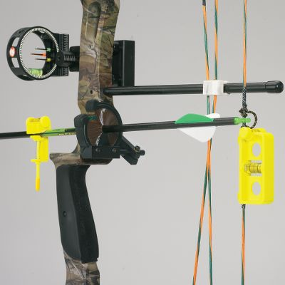 Hunting Take the guesswork out of nock positioning. Secure your bow in a vise, clip on the String Level and adjust the vise until the bow is at horizontal and vertical level. Place the nock arrow on the rest and attach the NOK-EZ Level to the arrow. Slide the arrow up or down on the string until it is level. You've now located the perfect 90 nock positioning needed for precision tuning. Combo includes NOK-EZ arrow level and String Level. Color: Black. Type: Arrow Levels. - $24.99