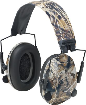 Hunting Enhances the sounds of the outdoors by up to 42 decibels and compresses loud noises to protect you from muzzleblast. Each earcup has an independent volume control, receiver and amplifier to give you pinpoint directional accuracy. Sounds in harmful ranges are compressed to below 85db without gaps. Runs on six AAA batteries (included) for up to 280 hours.Camo patterns: Realtree Hardwoods Green HD, Mossy Oak Break-Up, Advantage MAX-4 HD, Seclusion 3D. Type: Hearing Enhancement. Max 4. - $99.99