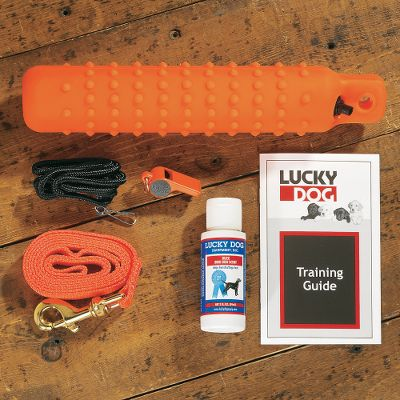 Hunting A complete kit for the beginner or advanced trainer with the same quality equipment used by professional trainers. Includes: Roy Gonia Special whistle, nylon whistle lanyard, game scent, regular plastic knobby dummy, 4-ft. nylon lead, training booklet. Available: Orange Dummy/Pheasant Scent, White Dummy/Duck Scent. Color: Orange. - $18.88