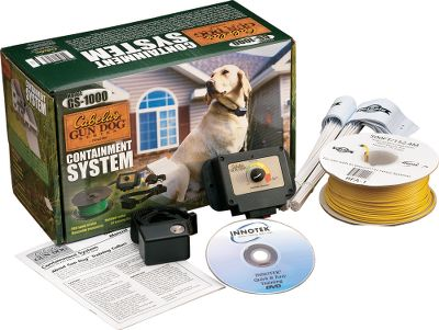 Entertainment Keep your gun dog or family pet safe at home with this affordable, effective hidden fence system. The quick and simple setup takes all the guesswork out of installation. Simply install the boundary wire 1 to 2 below the surface in any configuration and hook up the wall mount transmitter. A constant signal runs through the wire so it is always ready to let your pet know that he is getting close to the boundary. Base kit includes 500 feet of wire, enough to cover a 1/2 acre. You can cover up to three acres by purchasing additional wire and connecting it to your original setup. You can even use it for specific, smaller areas such as swimming pools or gardens. Your dog wears a lightweight, water-resistant collar that fits snugly around necks from 7 to 20 in diameter. When the dog approaches the boundary, he hears a warning tone. If he continues, a mild static correction reminds him to stay in the safe part of the yard. If he tries to cross the boundary and leave the safe zone, the correction level is automatically raised for maximum, but safe, deterrence. The interchangeable long and short contact probes accommodate dogs of varying hair lengths. The complete system includes the wall-mount transmitter, collar receiver with nylon strap, test light, wire, 50 training flags and installation/training video, and 6-volt battery for collar. One-year warranty. Receiver dimensions: 2-1/8 x 1-1/8 x 1-1/2 . Receiver weight: 3.7 oz. Gender: Male. Age Group: Adult. - $76.88