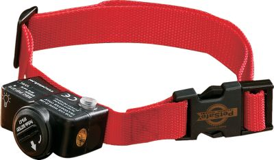 Entertainment Ensure the safety of all your pets with these additional receivers. The lightweight, waterproof receiver is incorporated into a comfortable collar (adjusts from 6 to 28 and is not recommended for dogs less than 8 lbs.) that runs on a 6-volt battery module. Receivers have five levels of stimulation and a tone-only mode.Measures: 2-1/2 x 1-1/4 x 1-1/4 .Weight: 4 oz. Gender: Male. Age Group: Adult. Type: Electronic Collars. - $134.99