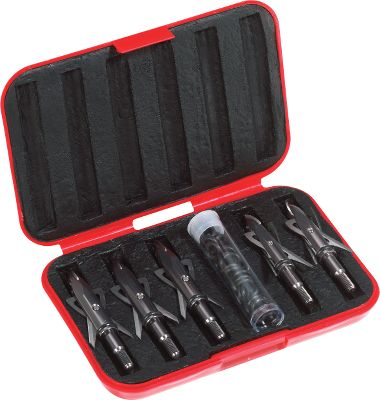 Hunting Keep your Rage broadheads handy and protected in the Rage Cage. Foam cavities hold up to six two- or three-blade broadheads. Made of heavy-duty plastic. Its compact 3 x 5 design easily fits into a bow case, backpack or pocket. Includes plastic vial for 0-rings, replacement blades and more. Broadheads not included. Color: Red. Color: Red. Type: Broadhead Boxes. - $9.99