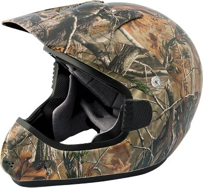 Hunting Approved by the Department of Transportation, this helmets lightweight thermoplastic shell wont weigh your head down during the action. Removable cheek pads and ear pockets deliver maximum comfort and protection. Air intake and exhaust scoops for cooling circulation. Nonslip goggle-strap holder. Sizes: S-2XL. Camo pattern: Realtree APG. Size 2x Large. - $114.88