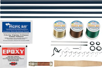 Flyfishing The Forecast RX6 Fly Rod Blanks are ideal for those rod builders seeking a blank with a versatile, moderate-fast action at a low price. The standard 33 million-modulus/high strain RX6 graphite used in the construction makes it a beginner-friendly rod with exceptional all-around casting performance that will also appeal to the experienced fly fisherman. Imported. Limited lifetime warranty.Forecast RX6 Standard Fly Rod Kits contain all the components you need to build a beautiful custom fly rod. Kits include: burled rosewood reel seat (7-, 8- and 9-weight kits will come with a black aluminum reel seat), premium cork grip, SIC stripper guide, hard chrome snake guides, hook keeper, winding checks, epoxy, rod finish, three colors of thread, brushes and instructions. - $69.99