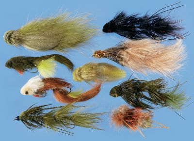 Flyfishing Kelly Galloup has created some of the most imaginative, fish-catching streamers in recent memory. This is an assortment of his best. Includes one each of the following: Galloups Zoo Cougar Yellow (size 4), Articulated Fat Head Olive (4), Monkey Olive (2), Galloups Trick or Treat (4), Dungeon Black (2), Dungeon Olive (2), Bottoms Up Cinnamon (2), Galloups Art Monkey Rusty (4), Galloups Peanut Envy Olive (2). Box included. Imported. Color: Olive. Gender: Male. Age Group: Adult. Type: Streamers. - $39.99