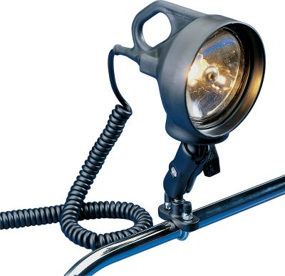 Fishing Penetrate the night sky to safely locate your favorite fishing location or your way back to the ramp at night with this ultra-bright 70,000 candlepower spotlight. Rubber-armored exterior protects the light from harsh on-the-water abuse, and it makes the light extremely water-resistant. Rubber-sheathed, push-button switch for easy, reliable operation in any weather. Plug it into an existing cigarette lighter or use the included adapter to hook directly to a 12-V battery. Both let you swivel the spotlight side to side, up and down and anywhere in between to ensure you have light wherever you need it. (1 rail adapter sold separately) - $99.99