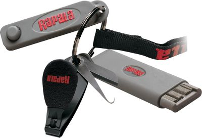 Fishing Three of the most useful tools an angler can have with him on the water is one convenient combo that hangs around your neck. Comes with the Rapala line clipper, Jig Buster and Hook File all on one large split ring attached to a handy lanyard. - $9.99