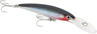 Fishing This is the lure to have for unassisted deep trolling in pursuit of larger species both inland and offshore. Capable of reaching depths to 15 ft. and running at speeds up to 13 knots, the X-Rap Magnum 15 is ideal for tuna, grouper, wahoo, muskie, salmon and lake trout. All the X-Rap features are here including a textured, translucent body and hard-cutting, aggressive darting action. An internal long-cast system transfers lure weight to have you throwing it far and strong. Corrosion-resistant components will endure hit after hit. Per each. Size: 4-3/4, 1-5/8 oz.; Dives 15 ft. Colors: (001)Silver, (011)Red Head, (102)Gold/Green Mackerel, (382)Silver/Blue Mackerel, (499)Blue Sardine, (556)Bunker, (822)Bonito. Color: Translucent. Type: Crankbaits. - $18.49