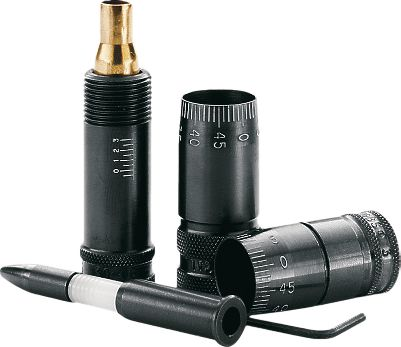 The Precision Mic Gauge shows you your chamber headspace and bullet-seating depth to 0.001 of an inch with just a few twists. It measures from the datum point on the case's shoulder to the base, giving you spot-on SAAMI tolerance readings. It's indispensable for safe, accurate loads. Available for many popular calibers. Type: Micrometers. - $56.99