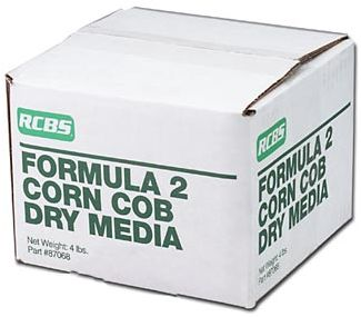 Clean your casings with Corn Cob Dry Media. Combines ground corn cob with a chromium oxide polisher and cleaner. Size: 4 lb. box. - $19.99