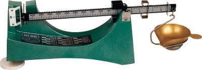 The legendary standard in mechanical scales with a magnetic dampening system and large black-on-white graduations for easy reading. Features three-poise beam graduated in 10-, 1- and 0.1-grain increments to achieve 1/10-grain accuracy. Ounce-to-grain conversion on base for shotshell reloaders. 511 grain capacity. Type: Balance Beam Scales. - $64.88
