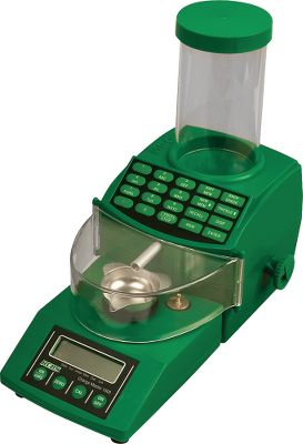 With a full 1,500-grain capacity, the ChargeMaster 1500 Scale allows you to weigh powder, bullet cases or even loaded cartridges. An easy-to-read display shows weight in grains or grams and is accurate to 1/10 of a grain. Use the two included check weights for fast and easy calibration. An AC adapter is also included. You can easily weigh and dispense all types of powder in amounts from 2 grains to 300 grains quickly. Just fill the powder hopper, enter the desired charge amount and press the dispense button. Powder can also be dispensed in grams. The dispenser stores up to 30 favorite loads in memory for fast and easy recall. Includes a powder drain for emptying the hopper. Type: Powder Dispensers. - $300.00