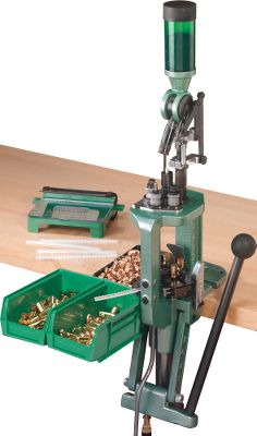 The APS priming system and reliable mechanical cam action make this Pro 2000 press a great way to get started in progressive reloading or add another option to your existing setup. APS is the safest, most convenient priming system around. A strip loader and empty strips are included in this kit. You get the Pro 2000 press with the ability to use five stations to help you crank out completed centerfire rounds faster than you can with a single-stage press setup. A case-activated powder measure stops accidental powder spills, and the Uniflow Powder Measure features a precise micrometer adjustment screw for consistent powder charges with each stroke. Quick-change die plates let you switch from one caliber to another quickly and easily, and you can change the primer size youre working with in less than a minute. Other accessories include: a bullet tray, an empty brass bin and a loaded cartridge bin. Dies and shellholder not included. - $499.88