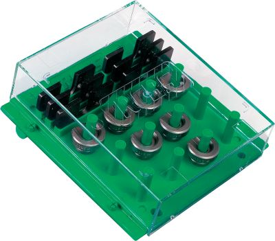 Forget about manually sorting through a box of loose shell holders trying to find the one you need. This handy organizer has room to hold up to 24 shell holders, as well as a place to store up to six Trim Pro Case trimmer shell holders. The cover keeps dust and dirt out. Its configured for mounting to a wall, reloading bench or pegboard so youll always know where your shell holders are. (Shell holders not included) - $12.74