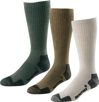 Hunting Outfitted with ribbed tops to stay in place these lightweight, full-cushion socks offer all-day comfort, whether youre wearing them as causal or dress socks. Arch braces provide support, and the durable ringspun cotton is soft to the touch. 75% cotton, 23% nylon, 2% spandex. Three-pack. Made in USA. Height: 11.5.Size: Large.Color: Assorted. - $7.88