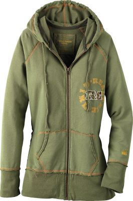 Hunting Crafted of super-lightweight, 6-oz. 80/20 cotton/polyester fleece with a soft, French Terry finish. Contrasting, decorative topstitch in RG Girl Gold and reversed seaming for an inside-out look. Imported. Size: LARGE. Color: Green. Gender: Female. Age Group: Adult. Material: Cotton. Type: Hoodies. - $29.88