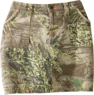 Hunting Make a fashion statement with this 100% cotton-twill skirt. Sits low on the waist and features four-pocket cargo styling. Imported. Even sizes: 4-16.Camo pattern: Realtree MAX-1 . - $24.88