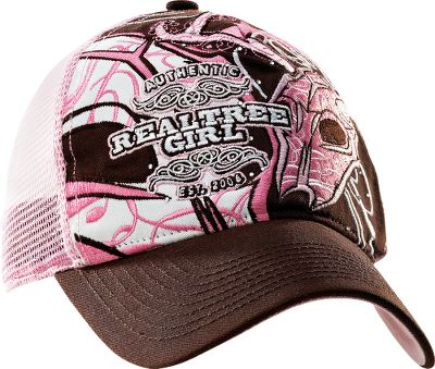 Hunting A washed cotton-twill cap with outdoor-gal flair. One size fits most. Imported.Color: Brown/Pink. - $17.88