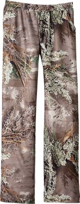 Hunting These pants feature a flowing, open-leg cut that prevents bunching and binding for premium sleeping comfort. Ornamental drawstring waist for a custom fit. Made with a polyester/spandex blend for silky softness with stretch. Imported.Sizes: S-2XL.Camo patterns: Realtree APC (Pink), Realtree MAX-1 . - $29.88