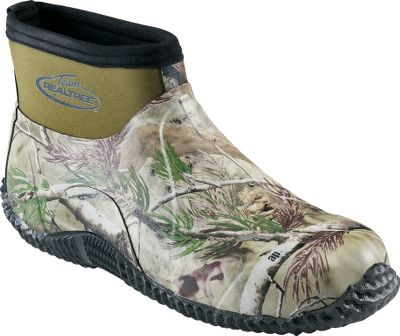 Hunting Relax around camp in the slip-on convenience of these rubber boots. Neoprene collars add extended waterproof protection and the neoprene linings increase comfort. Durable rubber outsoles deliver versatile traction. Imported.Height: 5.Mens whole sizes: 8-13.Camo pattern: Realtree AP. - $59.88