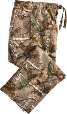 Hunting Stay cool and comfortable with these soft, cozy pajama pants. The elastic waist and drawstring provide a custom fit, while pockets on the seams stash essentials. 100% jersey cotton construction. Imported.Sizes: M-2XL.Camo pattern: Realtree AP. - $29.99