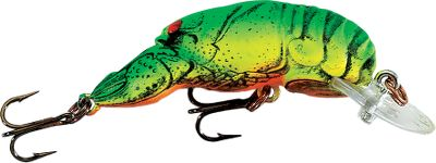Fishing The pulsating action and darting moves of the original Rebel Crawfish looks just like a mudbug thats trying to get away. The hard plastic body is finished in detailed crawdad colors for the ultimate in lifelike realism. It is deadly on largemouth, smallmouth and other game fish in all waters. Per each. Available: D77 Diving 1-1/2, 1/9 oz. Colors: (041)Chartreuse-Green, (210)Cajun Craw, (398)Stream Crawfish, (375)Charteuse-Brown Black, (376)Ditch Crawfish, (407)Moss Crawfish, (519)Texas Red. F77 Floating 1-1/2, 1/10 oz. Colors: (041)Chartreuse-Green, (210)Cajun Craw, (398)Stream Crawfish, (216)Nest Robber, (068)Softshell Crawfish, (800)Chrome Black Back, (375)Charteuse-Brown Black, (376)Ditch Crawfish, (407)Moss Crawfish, (519)Texas Red. F76 Floating 2, 1/5 oz. Colors: (041)(210)Cajun Craw, (398)Stream Crawfish, (216)Nest Robber, (375)Charteuse-Brown Black, (376)Ditch Crawfish, (407)Moss Crawfish, Texas Red. D74 Diving 2-1/2, 3/8 oz. Colors: (041)Chartreuse-Green, (210)Cajun Craw, (398)Stream Crawfish, (216)Nest Robber, (376)Ditch Crawfish. D76 Diving 2-3/8, 3/8 oz. Colors: (041)Chartreuse-Green, (210)Cajun Craw, (398)Stream Crawfish, (216)Nest Robber, (375)Charteuse-Brown Black, (376)Ditch Crawfish, (407)Moss Crawfish, (519)Texas Red. Color: Black. Type: Crankbaits. - $5.99