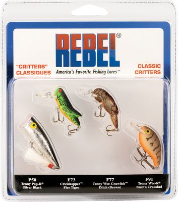 Fishing Ultralight enthusiasts and panfish fanatics know how deadly these critter baits can be. Perfect for small waters like farm ponds, mountain streams or anywhere you need the finesse of a smaller bait. Includes four famous baits: the Pop-R, Crickhopper, Teeny Wee Craw and Super Teeny Wee-R. - $12.99