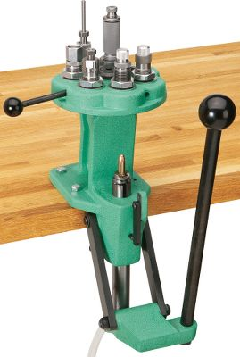 Redding created the ultimate turret press by melding cast-iron construction, powerful compound linkage and a rigid seven-station turret with a rear casting support for precise alignment. The 1-diameter hollow ram has a 3316 stroke with positive stop. For speed and convenience, Redding engineers added the Smart Primer Arm (for seating large and small primers) and a tubular primer-collection system that can be routed to a trash can or hold hundreds of spent primers before emptying. Accepts all standard 78-14 threaded dies and universal shell holders. Shell holders can be rotated to any position. Competition-die compatible. 434 press opening. Interchangeable turret heads allow quick and easy caliber changes. Comfortable ball handle. Dies and shellholder not included. Type: Presses. Type: Presses. - $249.88