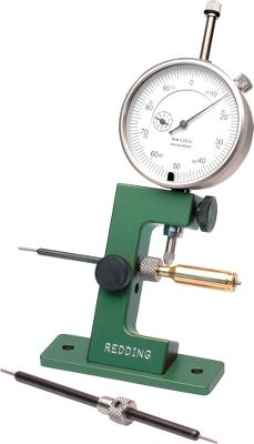 Accurately measures the neck wall thickness of the cartridge case and determines uniformity. Includes two mandrel sizes for measuring all cases from .17 cal. to .338 cal., including cases with small (.060) flash holes. Large 1'' X .001'' dial indicator. The mounting base can be directly attached to your loading bench. Also includes two pilot stops (.22 cal and .30 cal.). - $89.99