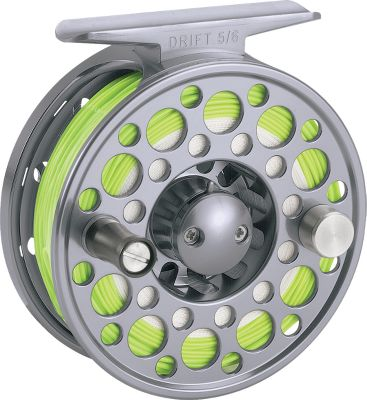 Flyfishing Designed for the specific needs of the trout fisherman. These click and pawl reels are perfectly balanced and fully machined. The lightweight aluminum design and quick-release spool easily converts to right- or left-hand retrieve. Lifetime warranty. Nylon case included. Color:Titanium. Color: Titanium. Type: Freshwater Fly Reels. - $74.88