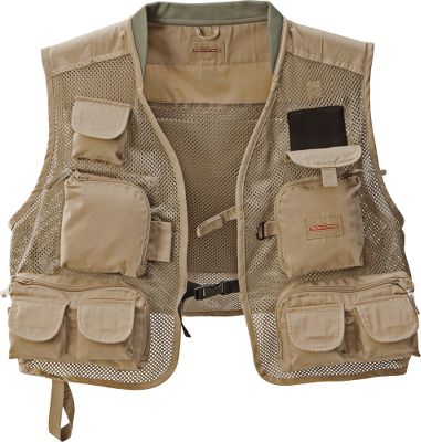 Flyfishing Quick-drying mesh vest keeps you dry, no matter how much fish splashing goes on. Practical pocket layout includes nine external zip-close and Velcro pockets, three zip-close interior pockets and large rear zip-close pocket. Comfortable knitted, lightly padded collar. Fleece fly keeper. 100% polyester. Imported. Sizes: Youth, S/M, L/XL, 2XL/3XL. Color: Sage. Size: 2XL. Color: Sage. Age Group: Kids. Material: Polyester. Type: Vests. - $39.95